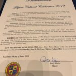 2019 Proclamation of the Filipino Cultural Celebration