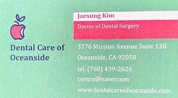 dental care oceanside 3 min